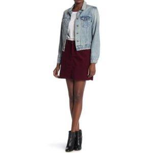 Blank NYC Mini A Line Merlot Corduroy Skirt 26